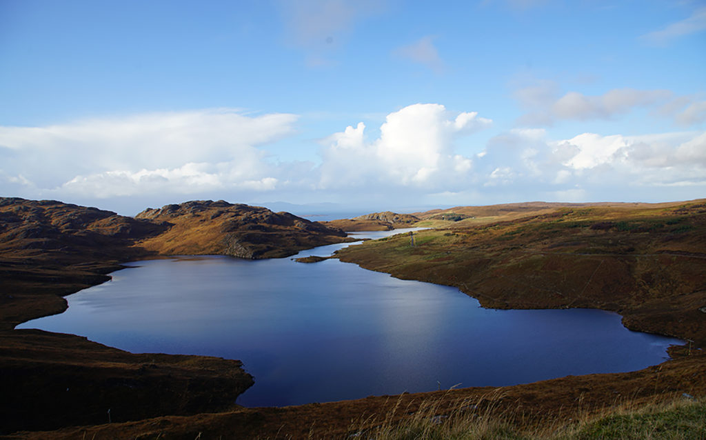 Loch Torridon, Wester Ross, northwest Highlands. View from the road to Diabaig. Driving to Diabaig