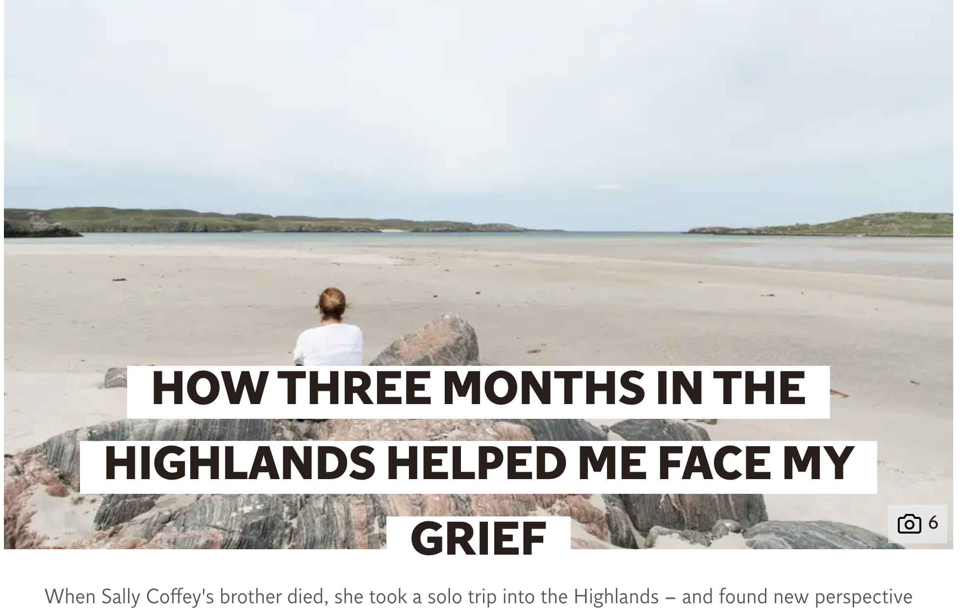How travel helped me face my grief